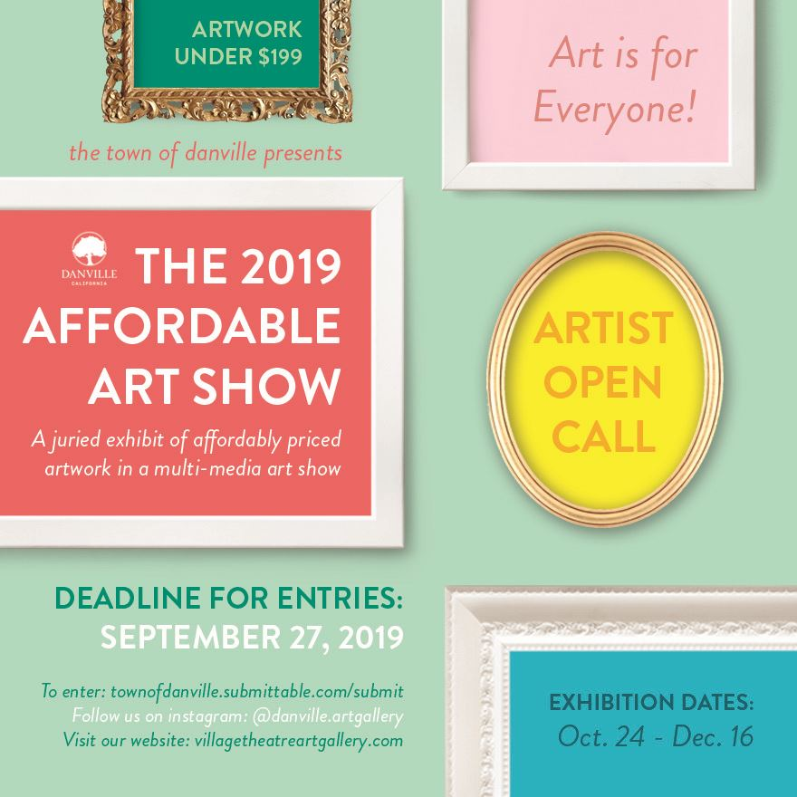 Affordable Art Show at the Village Thatre Art Gallery